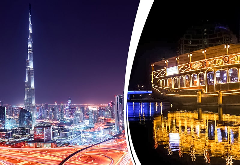 Dubai City Tour + Dhow Cruise Dinner