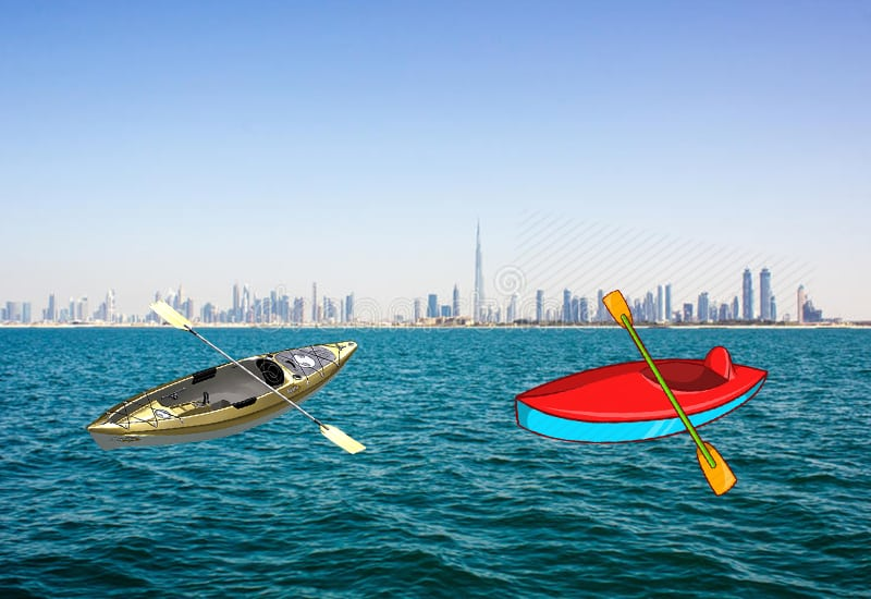 Kayaking in Dubai